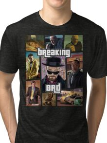 Breaking Bad / Grand Theft Auto Crossover (Clear Frame) Tri-blend T-Shirt