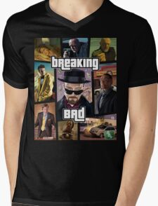 Breaking Bad / Grand Theft Auto Crossover (Clear Frame) Mens V-Neck T-Shirt
