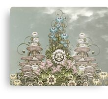 cynical white flower Metal Print