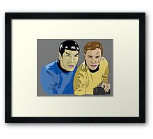 The Captain and His Science Officer in Grey Framed Print