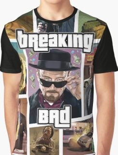Breaking Bad / Grand Theft Auto Crossover (Clear Frame) Graphic T-Shirt
