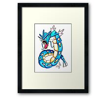 Gyarados watercolor Framed Print