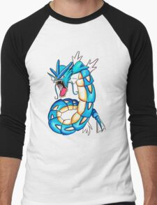 Gyarados watercolor Men's Baseball ¾ T-Shirt