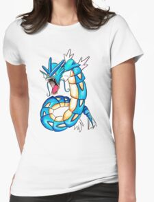 Gyarados watercolor Womens Fitted T-Shirt