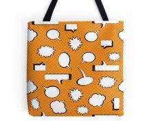 Comic Book Pow - Orange Tote Bag