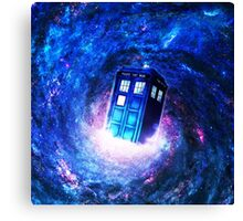 Tardis Doctor Who Vortex Canvas Print