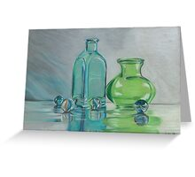 marbles and glass Greeting Card