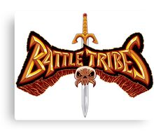 Battle Tribes Sword Logo  Canvas Print