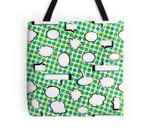 Comic Book Pow - Green Tote Bag