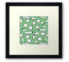 Comic Book Pow - Green Framed Print