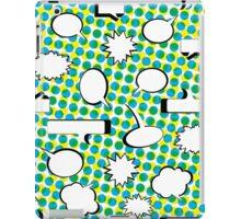 Comic Book Pow - Green iPad Case/Skin