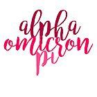 alpha omicron pi aopi aoii sorority sticker by linnnna