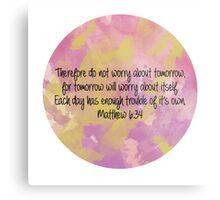 Matthew 6:34 Metal Print