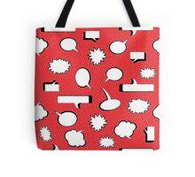 Comic Book Pow - Red Tote Bag