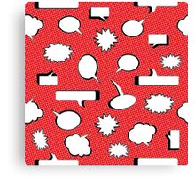 Comic Book Pow - Red Canvas Print