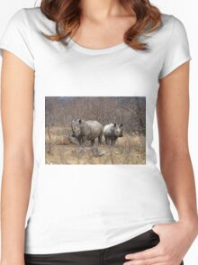 White Rhino Women's Fitted Scoop T-Shirt