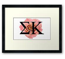 Sigma Kappa Rose Framed Print