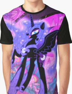 Nightmare Moon Oil Paint Graphic T-Shirt