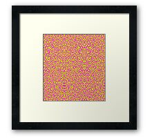 Keith Wall Pink and Select Your Colours Framed Print
