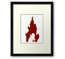 Beauty and the Beast Castle Framed Print
