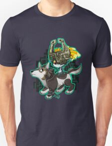 Twilight Princess Wolf Link and Midna Unisex T-Shirt
