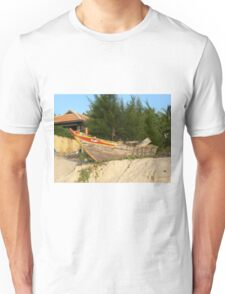 Old Asian Fishing Boat on the Beach Unisex T-Shirt