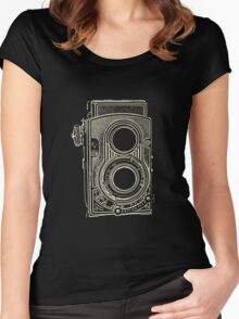 Vintage Retro Camera Women's Fitted Scoop T-Shirt