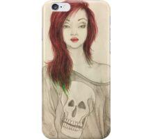Grunge Girl Sketch iPhone Case/Skin