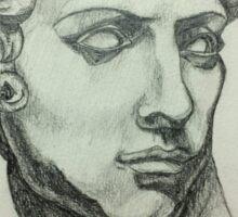 Michelangelo's David Drawing Sticker