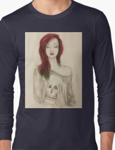 Grunge Girl Sketch Long Sleeve T-Shirt