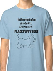 """""""Place Puppy Here"""" Dog Lover Classic T-Shirt"""