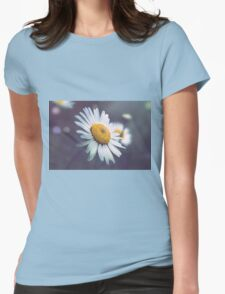Night Daisy  Womens Fitted T-Shirt
