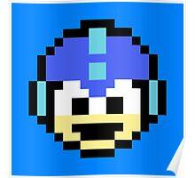 Megaman Head Poster