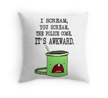 Mint Chocolate I-scream Throw Pillow
