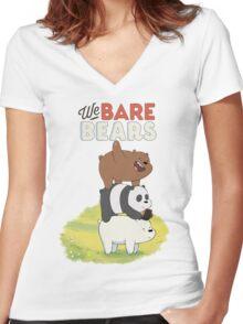We bare shirt Women's Fitted V-Neck T-Shirt