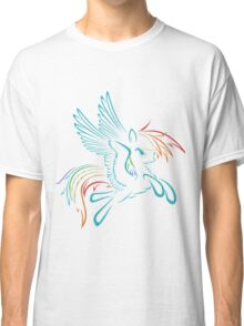 Rainbow Dash Abstract 3 Classic T-Shirt
