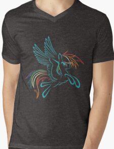 Rainbow Dash Abstract 3 Mens V-Neck T-Shirt