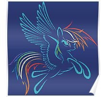 Rainbow Dash Abstract 3 Poster