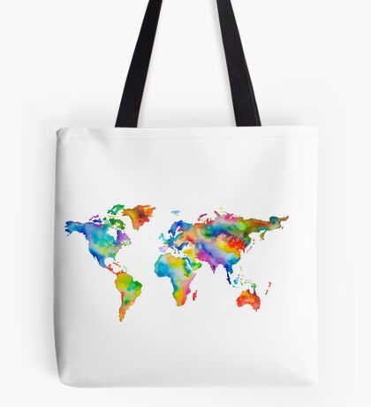 Rainbow World Tote Bag