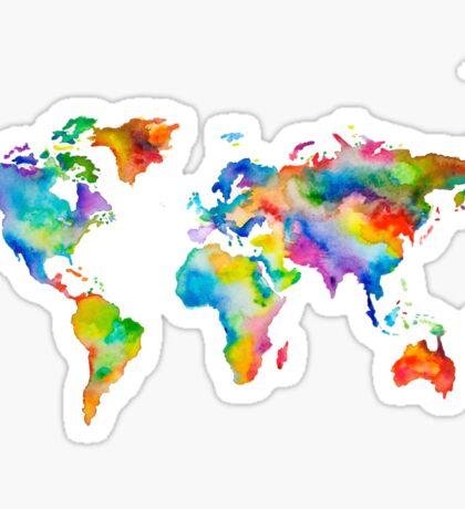 Rainbow World Sticker