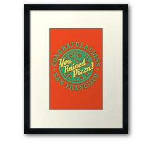Congratulations San Francisco! Framed Print