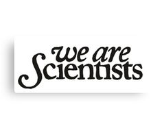 We Are Scientists Logo Canvas Print