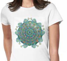 Baby Turtle Mandala Womens Fitted T-Shirt