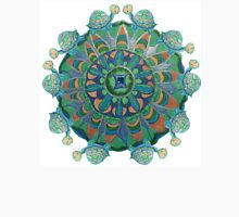 Baby Turtle Mandala Womens Fitted T-Shirt