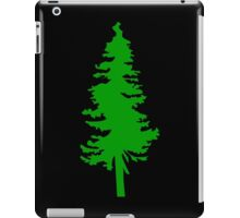 Plain Green Tree   Doug Fir/Pine/Evergreen iPad Case/Skin