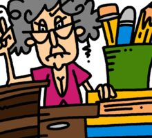 Funny Elderly Lady and Retirement Sticker