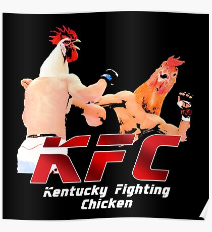 Kentucky Fighting Chicken Poster