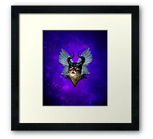 Winged Meowleficent Framed Print