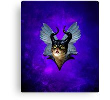 Winged Meowleficent Canvas Print