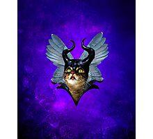 Winged Meowleficent Photographic Print
